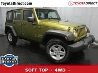 ONE OWNER, 4X4, SOFT TOP, NO ACCIDENTS on CARFAX,