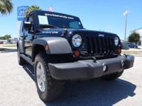 CARFAX 1-Owner. Rubicon trim, Black exterior and Dark