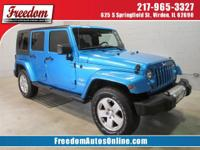 This sweet Wrangler Unlimited with its grippy 4WD will