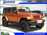 Options:  2010 Jeep Wrangler Unlimited Sahara|4X4