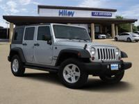 4WD, Bright Silver Metallic used 2010 Jeep Wrangler