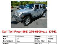 2010 Jeep WranglerUnlimited Sport 4dr 4x4 SUV Red 4WD