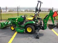 2010 JOHN DEERE 1026R WITH LOADER,DECK AND BACKHOE.