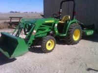 For sale is a 2010 John Deere model 3032E utility