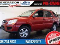 4D Sport Utility, 4WD, Volcanic Red, and 2010 Kia