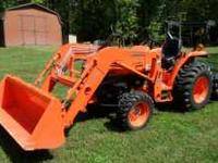 FOR SALE: 2010 KUBOTA L3400 HST 4WD TRACTOR w/ FRONT