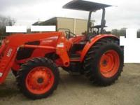 2010 Kubota M7040SU, 70 Horse Power, 4 Wheel Drive,