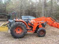 2010 Kubota MX5100 HST 4wd w/ front end loader,5'brush