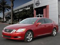 Treat yourself to this 2010 Lexus GS 350 Base, which