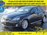 This 2010 Lexus IS 250 is offered to you for sale by