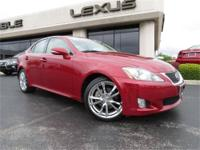 2010 Lexus IS250, Matador Red Mica with Black Leather