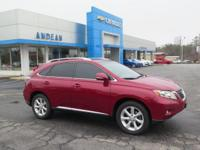 Options:  2010 Lexus Rx 350|Red|Clean
