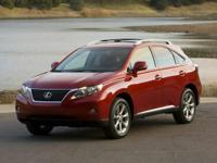 Leather Interior. RX 350, 4D Sport Utility, AWD, and