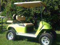 2010 Ez Go PDS Golf Cart Brand New Batteries Lime Green