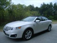 2010 LINCOLN MKS EQUIPPED WITH LEATHER, A/C HEATED
