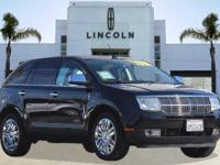 Options:  2010 Lincoln Mkx Awd 4Dr Suv|Black/|V6 3.5L
