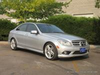 2010 C300 4-door sedan in silver with black interior.