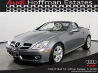 2010 MERCEDES BENZ SLK 350. PALLADIUM SILVER ON ASH
