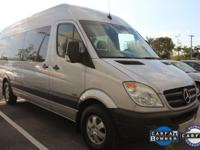 ONE-OWNER and CLEAN CARFAX. Sprinter 2500 Passenger 170
