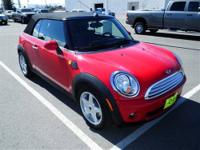 This Red 2010 MINI Cooper is powered by a 1.6L 4 cyls