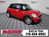 Convertible! Turbocharged MINI!!! Leather, Integrated