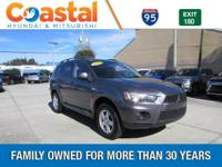 This 2010 Mitsubishi Outlander ES in features: FWD