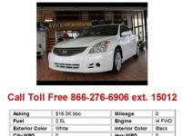 2010 Nissan Altima 2.5 4dr Sedan Sedan 4 Doors White