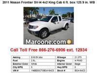 2010 Nissan Frontier SE 4x2 Crew Cab 4.75 ft. box 125.9