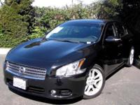 A CLEAN TRADE IN 2010 NISSAN MAXIMA S BLACK ON BLACK!!!