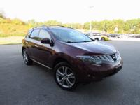 2010 Nissan Murano LE in Red. CVT, AWD, ABS brakes,