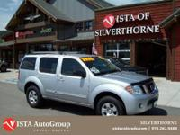 This 2010 Nissan Pathfinder has a clean Carfax and is