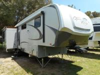 This 34' Fifth Wheel has three slide-outs. This unit is