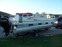 2010 Palm Beach Fish Master 20ft pontoon with 60hp