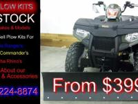 ATV PLOW KITS STILL AVAILABLE AS LOW AS $399.00 Call