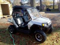 Silver RzR LE. Polaris Top, Headache net, Rear vinyl