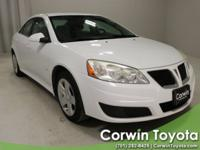 2010 Summit White Pontiac G6 Clean CARFAX. Local