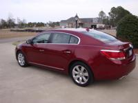 THIS 2010 RED BUICK LACROSSE CXS IS BEAUTIFUL INSIDE