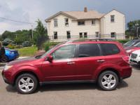 Clean CARFAX. Red 2010 Subaru Forester 2.5X Limited AWD