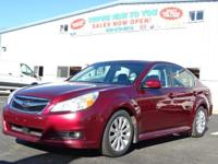 Ruby Red Pearl 2010 Subaru Legacy 3.6R Limited AWD