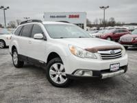 Satin White Pearl 2010 Subaru Outback 3.6R Limited AWD
