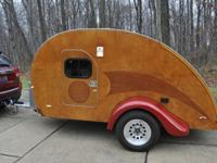 Custom-made built retro design teardrop camper Our