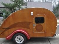 Custom-made constructed retro style teardrop camper Our