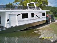 like new alum. hull boat with only 180 hours. Twin 4.3