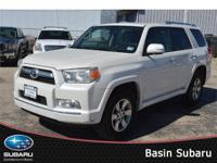 Our barely used 2010 White 4Runner is ready and willing