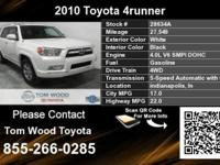 Call Tom Wood Toyota at  Stock #: 28634A Year: 2010