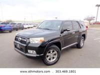 Our 2010 Toyota 4Runner Four Wheel Drive in Black is a