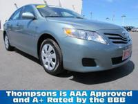 TOYOTA CERTIFIED! 2010 Toyota Camry LE Sedan. Qualifies