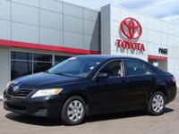 Clean CARFAX. Black 2010 Toyota Camry FWD 6-Speed
