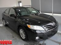 Clean CARFAX. BLACK 2010 Toyota Camry XLE FWD 6-Speed