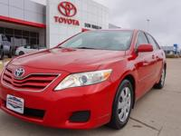 Cloth. Recent Arrival! Clean CARFAX. Red 2010 Toyota